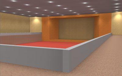 จำลองการทำงานของไฟ LED ก่อนติดตั้งจริง (Indoor)