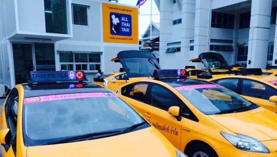 งานระบบแสดงผล LED บนรถแท็กซี่ All Thai Taxi